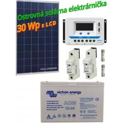 Ostrovná solárna elektráreň SET 30Wp s LCD