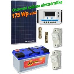 Ostrovná solárna elektráreň SET 175Wp s LCD