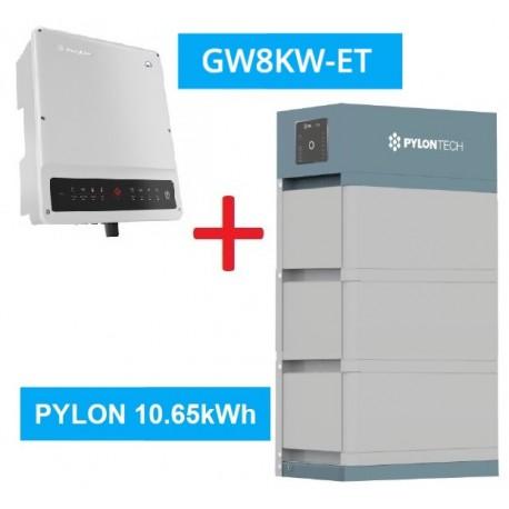 SET GW 8K-ET + Pylontech Force H2 - 10.65kWh