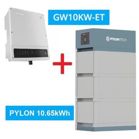 SET GW 10K-ET + Pylontech Force H2 - 10.65kWh