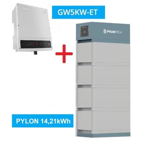 SET GW 5K-ET + Pylontech Force H2 - 14,21kWh