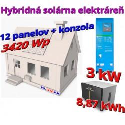 Hybridná solárna elektráreň 3420 Wp - 3kW
