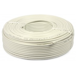 Koaxiálny kábel Fe - Cu biely