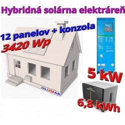 Hybridná solárna elektráreň 3420 Wp - 5kW