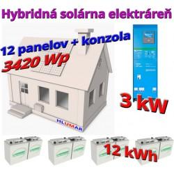 Hybridná solárna elektráreň 3420 Wp - 3 kW