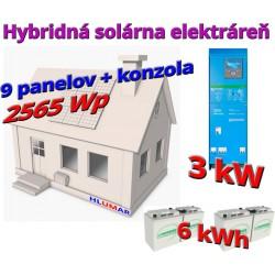 Hybridná solárna elektráreň 2565 Wp - 3 kW