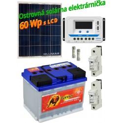 Ostrovná solárna elektráreň SET 60Wp s LCD