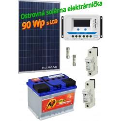 Ostrovná solárna elektráreň SET 90Wp s LCD