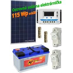 Ostrovná solárna elektráreň SET 115Wp s LCD